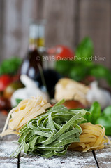 Raw pasta (Oxana Denezhkina) Tags: italy food white color green kitchen yellow closeup dinner tomato lunch cuisine restaurant healthy italian colorful mediterranean raw background nobody pasta fresh health homemade meal vegetarian noodles spaghetti macaroni spinach tagliatelle ingredient uncooked