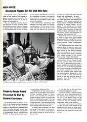 1966 The Disney World 29 - High Hopes - Disneyland Pigeons Set For 300-Mile Race (Tom Simpson) Tags: vintage 60s disneyland pigeon pigeons disney 1966 1960s vintagedisney thedisneyworld