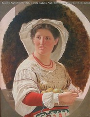 Eugenio Prati Ritratto della sorella Isabella Prati 1872 olio su tela 74 x 59 cm Collezione privata