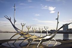 Solfar (breakbeat) Tags: travel sea sculpture music sun water festival iceland harbour front reykjavik voyager smokybay solfar airwaves13 icelands6599
