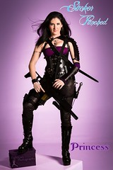 SP: Princess 3 (FightGuy Photography) Tags: leather sara gun boots rifle armor pistol sword corset blackhair broadsword suckerpunched union206 fightguyphotography