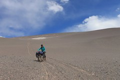 Too steep to ride, descending to the Salar de Antofalla