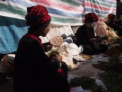 Mountain tribes at local market at Inle Lake (Myanmar 2013)