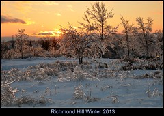 Richmond Hill 2013 (EvenCool) Tags: winter sunset cold frozen richmond freeze icy december262013 hillontarioicestormicestorm
