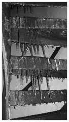 Ice on our indoor tower stairs (rightthewrong) Tags: new white mountains tower ice stairs one washington mt jan january peak indoor nh hampshire presidential mount observatory glaze cycle icicle summit sickle range obs htc 2014 mwo presidentials sicle