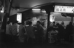 (AlanDejecacion) Tags: street food film japan tokyo evening kodak latenight streetfood nikonf3 nocturne foodstall 400cn noodlestall nikkor3520