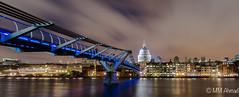 Millennium Bridge Leading to St paul's (MM Ahmad) Tags: city bridge london church night cityscape cathedral stpauls millennium milleniumbridge stpaulscathedral riverthames londonnight londonatnight englanduk nikond5100 millenniumbridgeblue