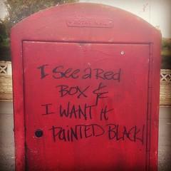 Groovy postbox (Mr Exploding) Tags: urban graffiti lyrics isleofwight postbox royalmail therollingstones ryde paintitblack instagram