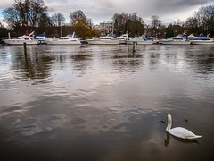Safe Haven (tonybill) Tags: winter lock miscellaneous riverthames hdr floods weir eastmolesey hdrefexpro lumix1442mm lumixgx7