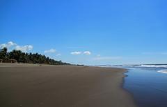 Just dreaming........ (SamSpade...) Tags: blue beach coast boat sand waves pacific empty surfing dreaming salvador 554 wheeltracks 962010nov playaelmetalio