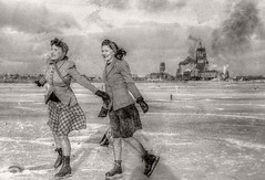 January 1945: Skating in Glace Bay Nova Scotia During the War: HDR (from single jpg) - Unknown Film Camera (Logos: The Art of Photography) Tags: novascotia hdr glacebay unknownfilmcamera eileenaddicottneemcneil teresaschlosserneemcneil