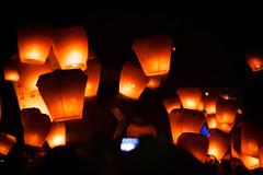 Pingxi Sky Lantern Festival 2014 in Taiwan (Jirka Matousek) Tags: light sky food festival night roc flying market taiwan luck nightmarket lanterns lantern february taiwanese  2014 pingxi skylantern xueshan