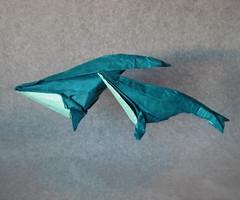 Ballenas Yubarta (mrmicawer) Tags: sea mar origami whales papel papiroflexia ballenas cetceos yubarta