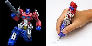 柯博文變身原子筆~ 千值鍊推出『變形金剛』變形原子筆!一共三個版本!!!