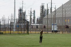 In the Field (metroblossom) Tags: girl field indiana bp refinery eastchicago marktown northwestindiana img6663 northwesternindiana whitingrefinery