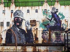 Bungle, Mr Zero & Fatheat (Dell's Pics) Tags: wales graffiti ship mr north duke lancaster beached bungle zero the llanerchymor fatheat