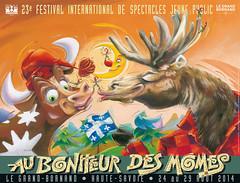 Affiche Festival Au Bonheur des Mômes - 2014