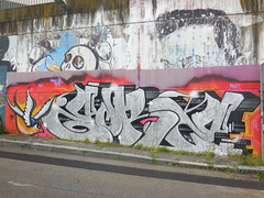 DSCN6554 (en-ri) Tags: muro wall writing torino graffiti mort 14 jr arancione 2014 argento rondine eore