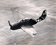 The damage was caused by a mid-air collision with another TBF which was lost. This one made it back to the vicinity of the US fleet and ditched. The pilot was Lt Bob King.