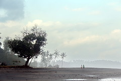 surreal view of Balian Beach (asitrac) Tags: beach nature sunset light bali    lessersundaisland nusatenggara indonesia indonsie  southeastasia asia travel balianbeach mist haze asitrac offbeat canon 60d geotagged banjarlalanglinggah id eo