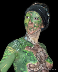 Electronica (Trojan Photography) Tags: art painting artwork nikon artistic body painted bodypainting bodyart hdr bodypainted d2xs nikond2xs crayfestival