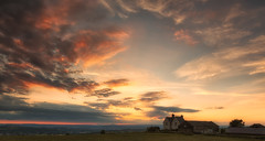 Sunset at the farmhouse (S.R.Murphy) Tags: sunset summer england sky panorama nature clouds farmhouse canon landscape evening unitedkingdom britain yorkshire panoramic fields goldenhour westyorkshire 6d goldenlight emley canon24105f4l leefilters nikcolourefexpro canon6d lightroom5 july2014