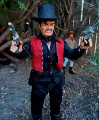 Texas Ted with his Six Shooters (atjoe1972) Tags: gabriel vintage toys actionfigure tv cowboy retro western 1970s custom seventies outlaw loneranger oldwest sixshooter butchcavendish atjoe1972