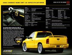 2005 Dodge Ram SRT-10 Yellow Fever Edition (aldenjewell) Tags: 2005 dodge ram srt10 yellow fever edition pickup truck brochure