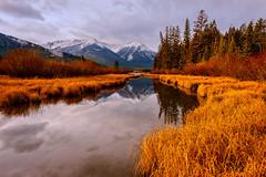 Banff Stillness (jd_hiker) Tags: banffnationalpark landscape fallcolors seasons cities autumn alberta reflections subject canada banff nationalparksofcanada places vermilionlake