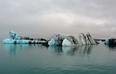 Jkulsrln on a cloudy day (Explore Oct 15, 2016 #190) (Margrt A.) Tags: glacier lagoon jokulsarlon iceland iceberg blue cold sland glacial