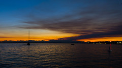 Seattle - Sailing Away (NikonD3xuser1(Thanks for 1.6 million visits)) Tags: usa washington sunset sailing boats sailboat evening nikon d810 water sky orange docks night