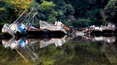 Le cimetière des bateaux sans nom... (christophebiget) Tags: lecimetièredesbateaux nb bretagne lecimetiã¨redesbateaux