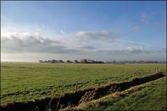 view on the village (Elly Snel) Tags: ameland eiland island nl meddow weide rural wolken clouds village dorp