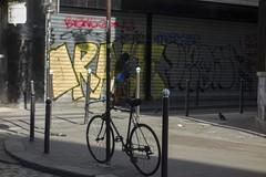 . (Le Cercle Rouge) Tags: paris france 75011 graffs graffitis tags painters reflections ruedufaubourgdutemple human colors sun light belleville