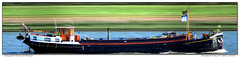 Excelsior (Morthole) Tags: slitscan ship boat schip boot barge binnenvaart schiff rheinschiff excelsior bulk vrachtschip
