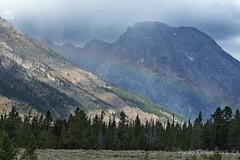 Paesaggio con arcobaleno, landscape with rainbow (paolo.gislimberti) Tags: parchinazionali nationalparks grandteton paesaggiodimontagna mountainlandscape arcobaleno rainbow alberi trees conifers conifere