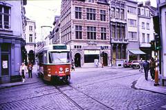 Once upon a time - Belgium - Antwerpen / Anvers (railasia) Tags: belgium flanders antwerpen anvers miva metergauge routenº10 motorcar pcc infra singletrack levelcrossing doubletrack eighties