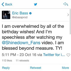 #HappyBirhdayEicBass (ShinedownsNation) Tags: shinedown nation shinedowns zach myers brent smith eric bass barry kerch