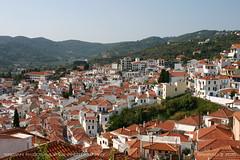 Skopelos town in the morning (srkirad) Tags: skopelos greece island summer vacation sea city morning hill town travel