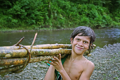A Great Day... (carf) Tags: children child kid boy indigenous indgena nature natural nheempor guaranimby indians forsakenpeople brasil brazil community esperana hope socialpoverty underprivileged culture cultural traditions aldeia village araym arapyau riobranco amazniapaulista tekoa yvymare landwithoutevil itanham rio whiteriver indigenousterritory tribe valedoriobranco outdoor working timber logs smile smiling rodrigo