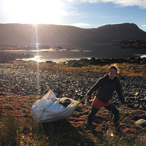 Here's another thing. When 100 yards of remote and lovely coastline in the west of Scotland, somewhere relatively untouched by the hand of mankind, can still yield a dumpy bag and the plastic to fill it, what on earth must be going on everywhere else? #bi