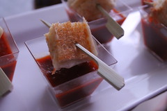 IMG_3485 (avaloncatering) Tags: clermont maid costume appetizer passed tomato soup grilled cheese skewers food horizontal