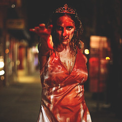 297 | 366 | V (Randomographer) Tags: project366 carrie 1976 supernatural horror film stephen king blood prom queen costume tiara reach human woman 297 366 v halloween cosplay