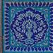 Blue tile work