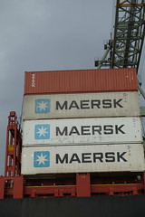 Container terminal @ Harbour Tour @ Spido @ Rotterdam (*_*) Tags: rotterdam netherlands nederland city europe october autumn fall 2016 cloudy morning spido nieuwemaas river cruise boat ship harbour tour container cargo maersk transshipment harbor port
