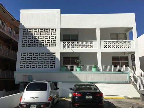 Mid-Century Apartment Building Surfside 1957