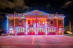 Lake Avenue Fire Department Dressed up for the Holidays (Samantha Decker) Tags: canonef1635mmf28liiusm canoneos6d christmas lakeave ny newyork ssfd samanthadecker saratogasprings uwa firedepartment upstate wideangle unitedstates