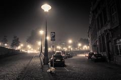 (Ir)réalité brumeuse / Misty (Un)Reality (Gilderic Photography) Tags: liege belgium belgique belgie night morning street city fog mist brume brouillard canon g7x gilderic