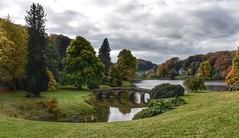 Let the children play (Nige H (Thanks for 7m views)) Tags: nature landscape autumn children bridge stourhead england wiltshire trees