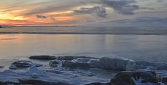 Fboda in ice, sun setting (today at 14.46) darkness is here.. (Mika Lehtinen) Tags: fboda slowshutter slow smooth sea water rock rocks snow ice